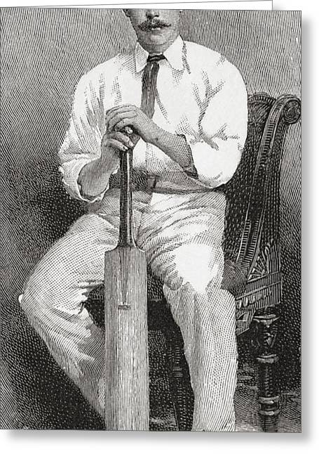 Cricketers Greeting Cards - Robert Abel, Aged 27, 1857 Greeting Card by Ken Welsh