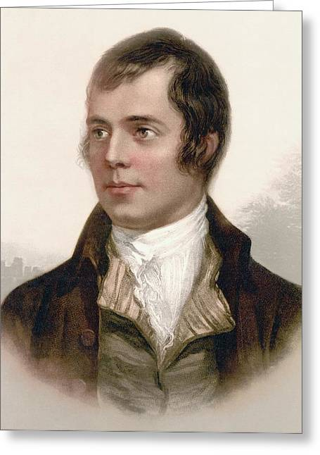 Bard Greeting Cards - Robert Burns 1759 To 1796. Scottish Greeting Card by Ken Welsh