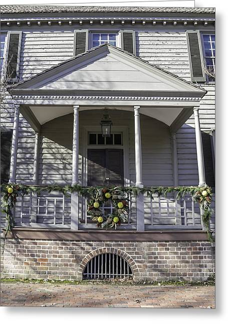 Transoms Greeting Cards - Robert Carter House Porch 02 Greeting Card by Teresa Mucha