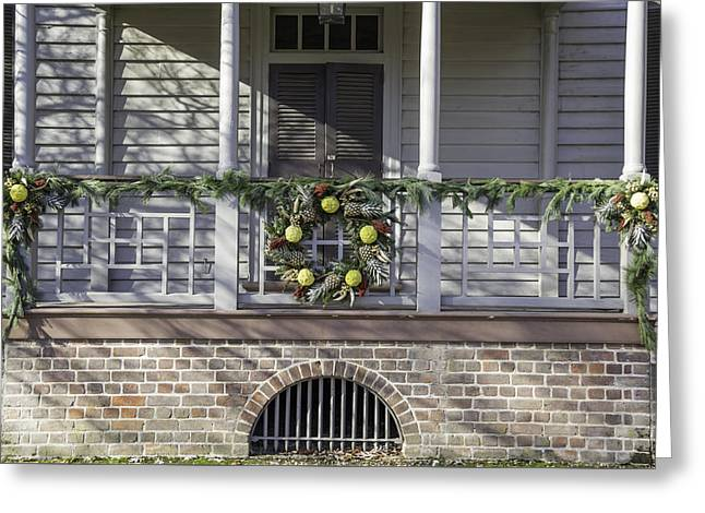 Transoms Greeting Cards - Robert Carter House Porch 03 Greeting Card by Teresa Mucha