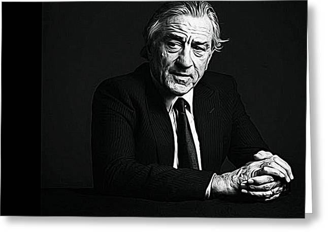 Michelle Greeting Cards - Robert de Niro Greeting Card by Queso Espinosa
