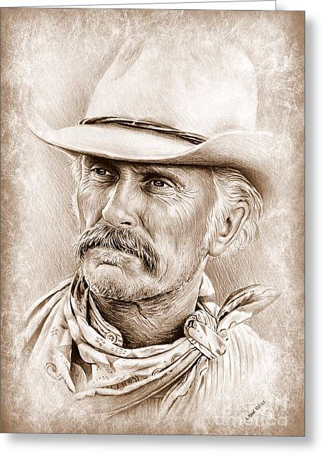Robert Duvall  The Western Collection Greeting Card by Andrew Read