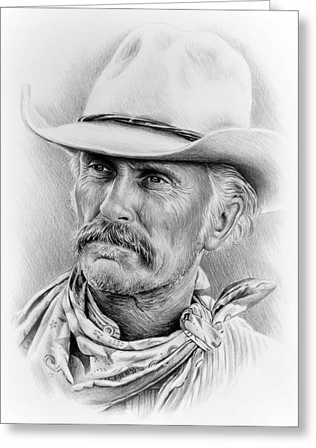 Graphite Poster Greeting Cards - Robert Duvall ver two Greeting Card by Andrew Read