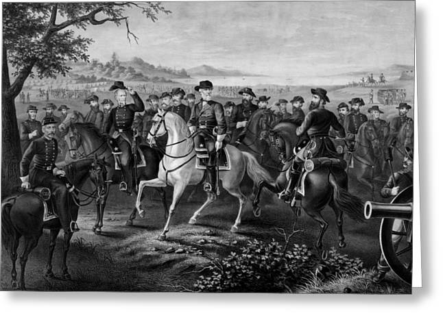 Stonewall Jackson Greeting Cards - Robert E. Lee and His Generals Greeting Card by War Is Hell Store