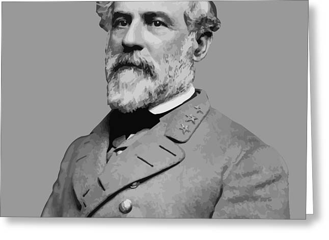 Robert E Lee Confederate Hero Greeting Card by War Is Hell Store
