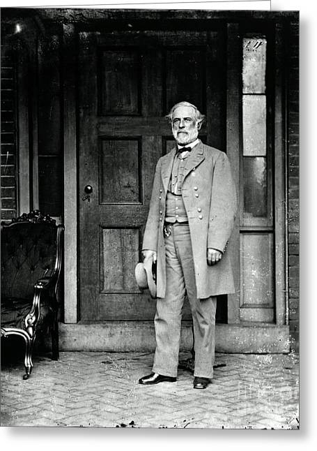 E Black Greeting Cards - Robert E. Lee In Richmond, Virginia Greeting Card by Photo Researchers