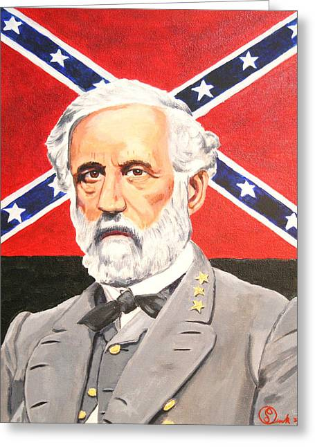 Civil Greeting Cards - Robert E. Lee Greeting Card by Robert Link