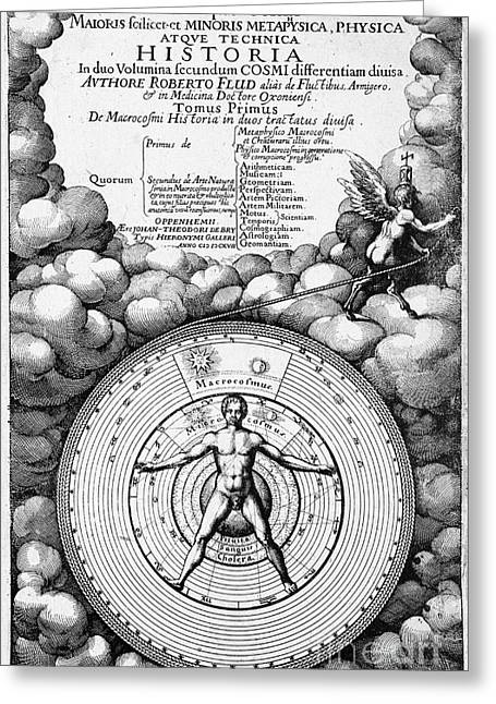 Robert Fludds Book On Metaphysics, 1617 Greeting Card by Wellcome Images