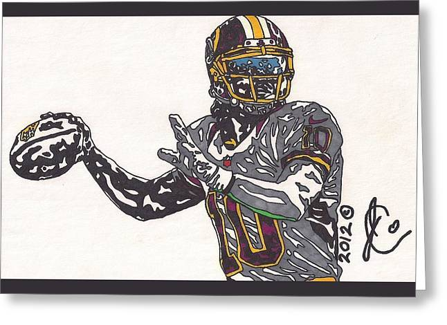 Robert Griffin IIi 2 Greeting Card by Jeremiah Colley