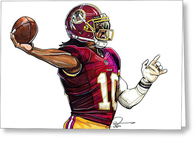 Heisman Greeting Cards - Robert Lee Griffin III Greeting Card by Dave Olsen