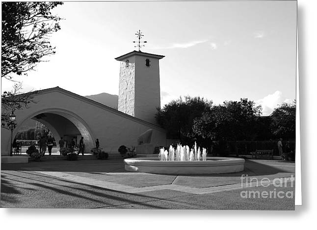 Winery Photography Greeting Cards - Robert Mondavi Napa Valley Winery . Black and White . 7D9029 Greeting Card by Wingsdomain Art and Photography