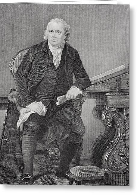 Alonzo Greeting Cards - Robert Morris 1734-1806. American Greeting Card by Ken Welsh