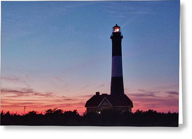 Robert Moses Greeting Cards - Robert Moses Light House Greeting Card by Linda Pulvermacher