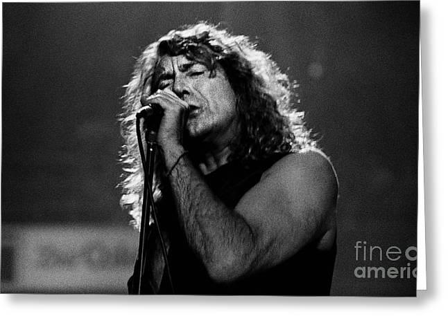 Robert Plant Performance Art Greeting Cards - Robert Plant-0041 Greeting Card by Timothy Bischoff