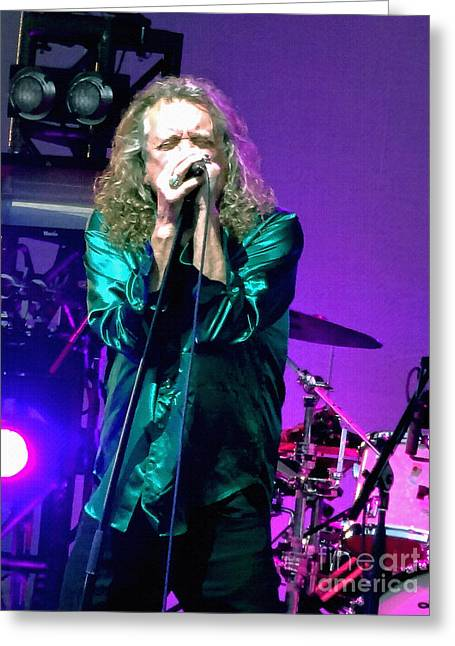 Robert Plant Digital Art Greeting Cards - Robert Plant and the Sensational Space Shifters.4 Greeting Card by Tanya Filichkin