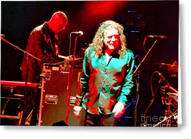 Robert Plant Digital Art Greeting Cards - Robert Plant and the Sensational Space Shifters.5 Greeting Card by Tanya Filichkin