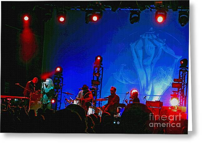 Robert Plant Digital Art Greeting Cards - Robert Plant And The Sensational Space Shifters.8 Greeting Card by Tanya Filichkin