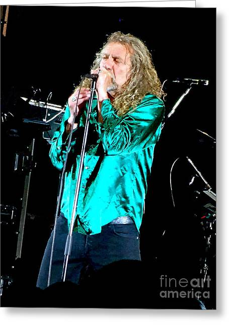 Robert Plant Digital Art Greeting Cards - Robert Plant and the Sensational Space Shifters.3 Greeting Card by Tanya Filichkin