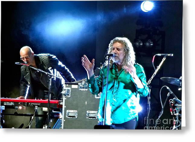 Robert Plant Digital Art Greeting Cards - Robert Plant and the Sensational Space Shifters.2 Greeting Card by Tanya Filichkin