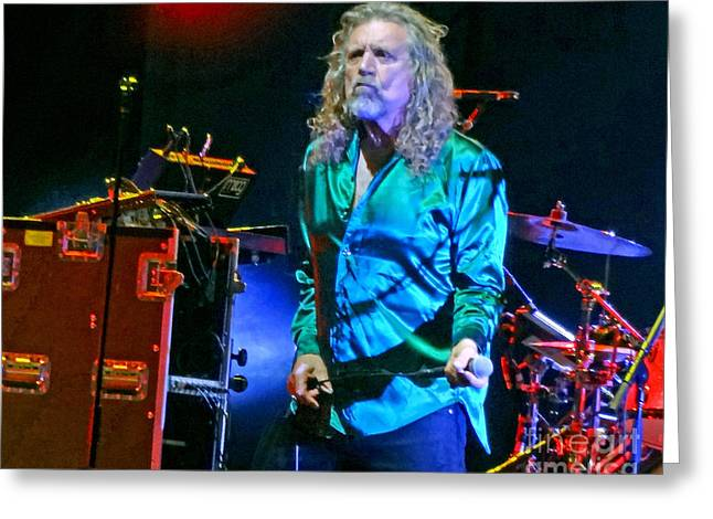 Robert Plant Digital Art Greeting Cards - Robert Plant and the Sensational Space Shifters.7 Greeting Card by Tanya Filichkin