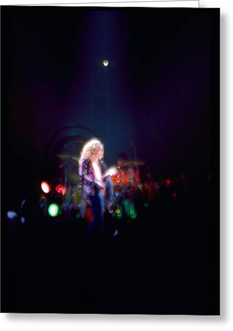 Robert Plant Led Zeppelin Greeting Card by Kevin Cable