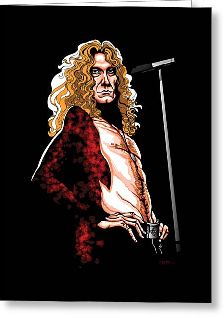 Robert Plant Of Led Zeppelin Greeting Card by GOP Art
