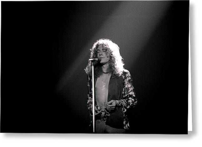 Robert Plant Greeting Cards - Robert Plant of Led Zeppelin Greeting Card by Mike Norton
