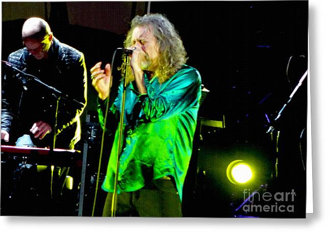 Robert Plant Digital Art Greeting Cards - Robert Plant and the Sensational Space Shifters.6 Greeting Card by Tanya Filichkin