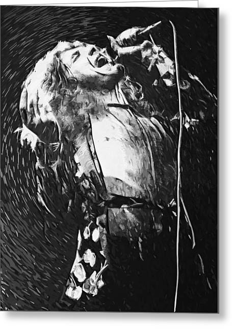 Led Zeppelin Prints Greeting Cards - Robert Plant Greeting Card by Taylan Soyturk