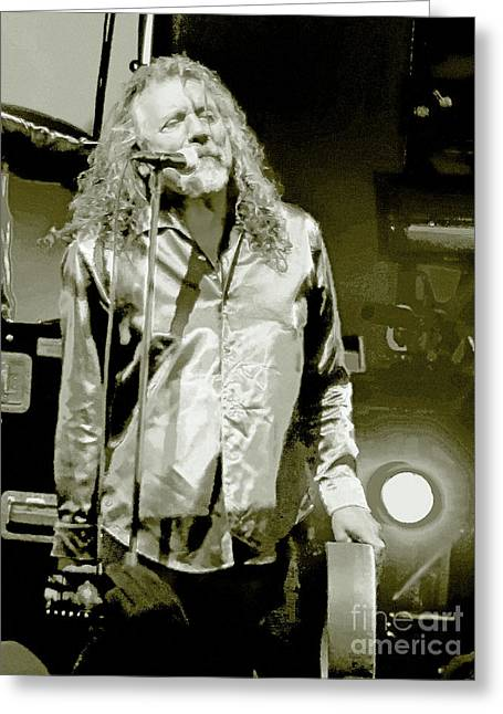 Robert Plant Digital Art Greeting Cards - Robert Plant and the Sensational Space Shifters.9 Greeting Card by Tanya Filichkin