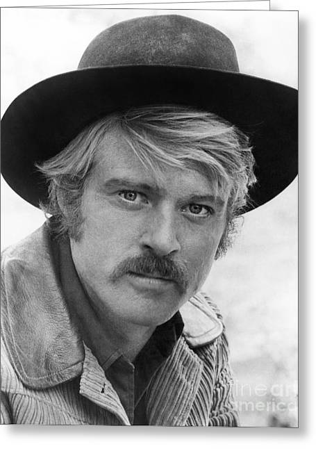 Sideburns Photographs Greeting Cards - Robert Redford (1936-) Greeting Card by Granger