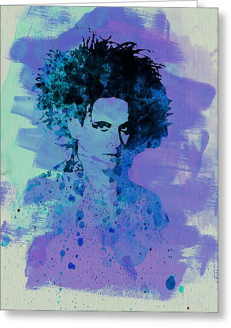 Roberts Greeting Cards - Robert Smith Cure Greeting Card by Naxart Studio