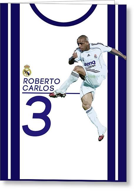 Roberto Carlos Greeting Card by Semih Yurdabak