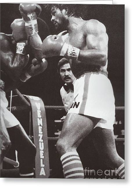 Roberto Greeting Cards - Roberto Duran 3 Greeting Card by Dennis ONeil