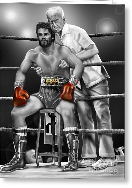 Roberto Red Gloves Of Gray  Greeting Card by Reggie Duffie