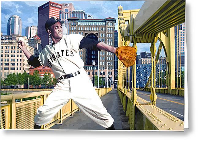 Clemente Greeting Cards - Robertos Bridge Greeting Card by George Curcio