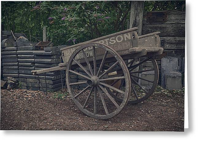 Horse And Cart Greeting Cards - Robertson and sons Greeting Card by Stewart Scott