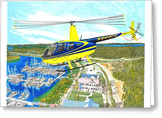 March Greeting Cards - Robertson R 44  Greeting Card by Jack Pumphrey