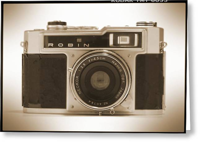 Robin 35mm Rangefinder Camera Greeting Card by Mike McGlothlen