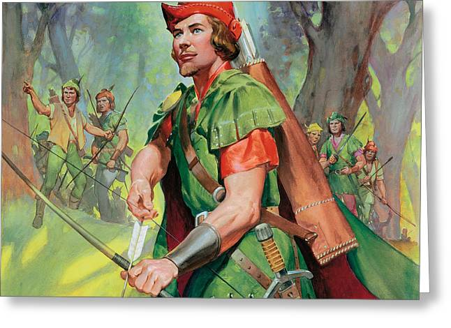 Robin Hood Greeting Card by James Edwin McConnell