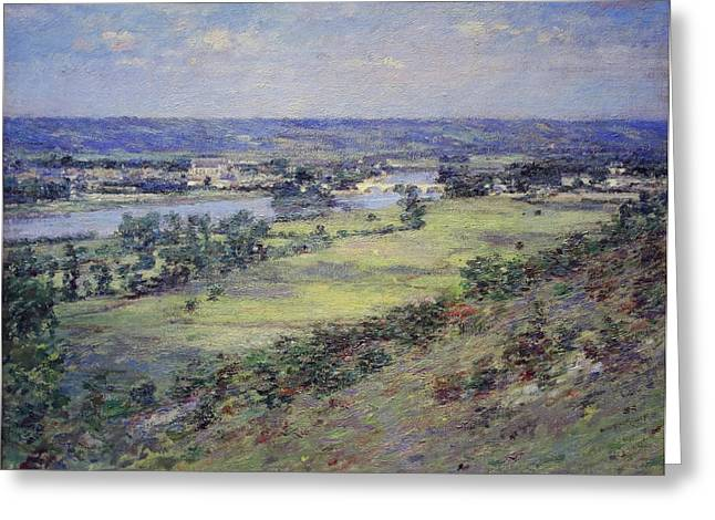 Photograph Of Painter Photographs Greeting Cards - Robinsons The Valley Of The Seine From The Hills Of Giverny Greeting Card by Cora Wandel