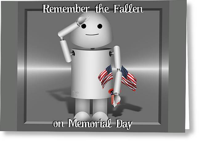 Old Glory Mixed Media Greeting Cards - Robo-x9 Remembers Greeting Card by Gravityx9  Designs