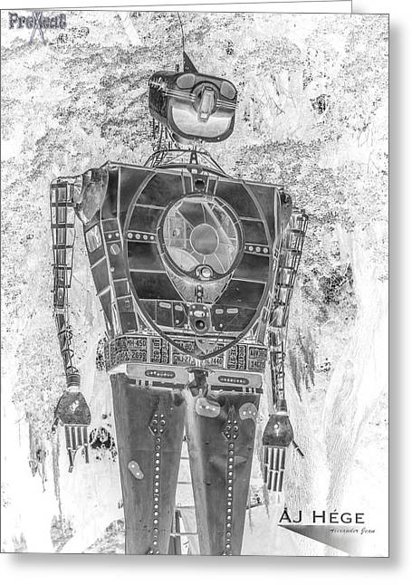 Installation Art Greeting Cards - Robot Resurrection Greeting Card by AJ Hege