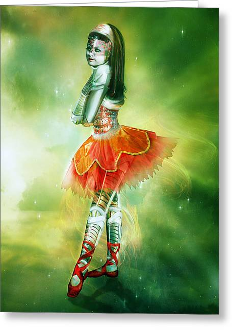 Robots Can Dream Too Greeting Card by Mary Hood