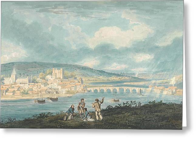 Rochester, Kent- From The North Greeting Card by Thomas Girtin