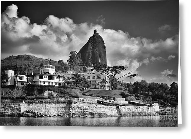Guatape Greeting Cards - Rock 2 Greeting Card by Photography by Orlando Antelo