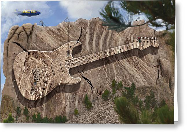 Carved Greeting Cards - Rock and Roll Park 2 Greeting Card by Mike McGlothlen