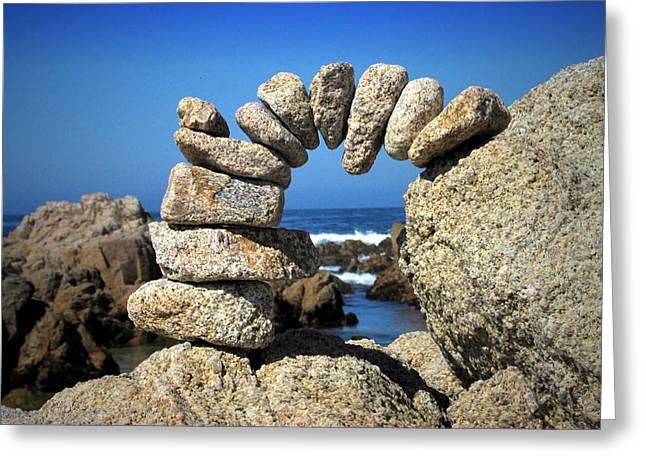 Rock Art One Greeting Card by Joyce Dickens