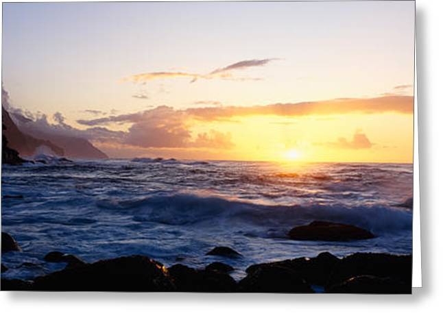 Rock At The Coast, Na Pali Coast Greeting Card by Panoramic Images
