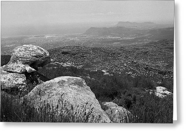 Cape Town Greeting Cards - Rock at the Top Greeting Card by Terence Davis